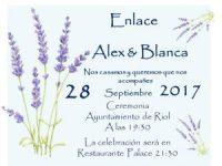 invitacion boda lavanda