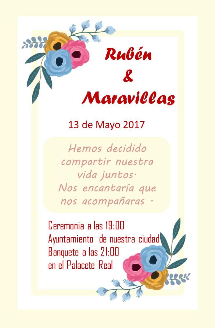 Invitacion de Boda Gardenia