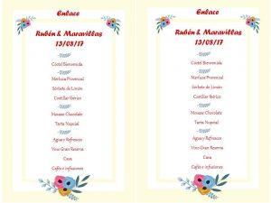 menu boda gardenia