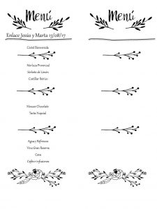 menu-de-boda-flower-blanco-negro