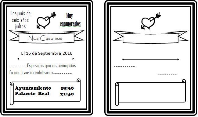 plantilla invitacion boda arrow - paraboda.online